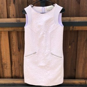 J. Crew Jacquard Sleeveless Lavender Dress XXS